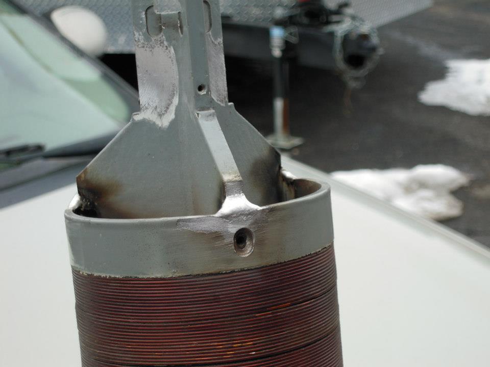Magnesium actuator buildup.