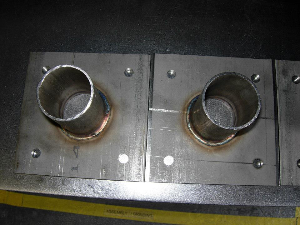 Stainless steel assembly.